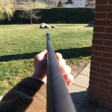 Sports shooting with blowgun